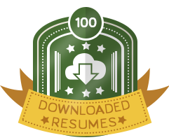 100th Downloaded Resume Badge
